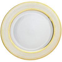 10 Strawberry Street IRIANA-4GLD Iriana 7 1/2 inch Gold Porcelain Salad / Dessert Plate - 24/Case