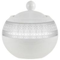 10 Strawberry Street IRIANA-18SLV Iriana 11 oz. Silver Porcelain Sugar Bowl with Lid - 6/Case