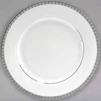 10 Strawberry Street ATH-1P Athens 10 3/4 inch Platinum Porcelain Dinner Plate - 24/Case