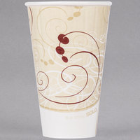 Dart Solo IC16-J8000 Duo Shield Symphony 16 oz. Poly Paper Hot Cup - 525/Case