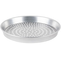 American Metalcraft SPHA90141.5 14 inch x 1 1/2 inch Super Perforated Heavy Weight Aluminum Tapered / Nesting Pizza Pan