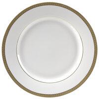 10 Strawberry Street LUX-4G Luxor 8 inch Gold Porcelain Salad/Dessert Plate - 24/Case