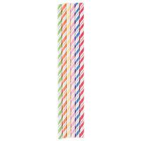 Creative Converting 090410 7 3/4 inch Jumbo Assorted Paper Straws - 144/Case