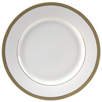 10 Strawberry Street LUX-2G Luxor 9 1/8 inch Gold Porcelain Luncheon Plate - 24/Case