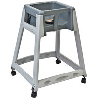 Koala Kare KB877-01W KidSitter Grey Assembled Convertible Plastic High Chair with Grey Seat and Casters