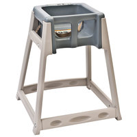 Koala Kare KB888-01 KidSitter Beige Assembled Convertible Plastic High Chair with Grey Seat