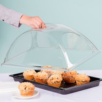 Sample and Display Tray Kit with Black Polycarbonate Tray and Double End Cut Cover - 12 inch x 20 inch