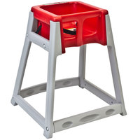 Koala Kare KB877-03 KidSitter Grey Convertible Plastic High Chair with Red Seat