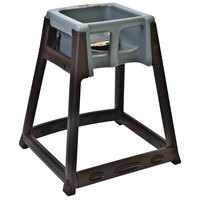 Koala Kare KB866-01 KidSitter Brown Convertible Plastic High Chair with Grey Seat
