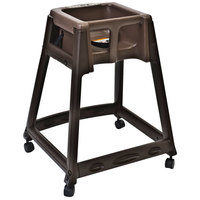 Koala Kare KB866-09W KidSitter Brown Convertible Plastic High Chair with Brown Seat and Casters