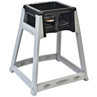 Koala Kare KB877-02 KidSitter Grey Assembled Convertible Plastic High Chair with Black Seat