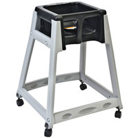 Koala Kare KB877-02W KidSitter Grey Assembled Convertible Plastic High Chair with Black Seat and Casters