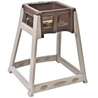 Koala Kare KB888-09 KidSitter Beige Assembled Convertible Plastic High Chair with Brown Seat