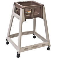 Koala Kare KB888-09W KidSitter Beige Assembled Convertible Plastic High Chair with Brown Seat and Casters
