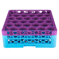 Carlisle RW30-1C414 OptiClean NeWave 30 Compartment Lavender Color-Coded Glass Rack with 2 Extenders