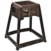 Koala Kare KB866-09 KidSitter Assembled Brown Convertible Plastic High Chair with Brown Seat