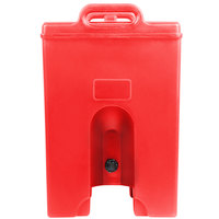 Cambro 1000LCDPL158 Camtainer 11.75 Gallon Hot Red Insulated Soup Carrier