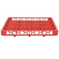 Carlisle RE16C05 OptiClean 16 Compartment Red Color-Coded Glass Rack Extender