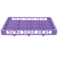 Carlisle RE16C89 OptiClean 16 Compartment Lavender Color-Coded Glass Rack Extender