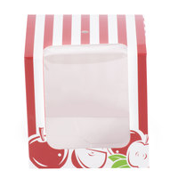Baker's Mark Printed 1-Piece Candy Apple Box with Window   - 100/Case