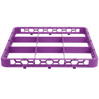 Carlisle RE9C89 OptiClean 9 Compartment Lavender Color-Coded Glass Rack Extender