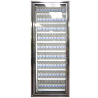 Styleline CL3072-HH 20//20 Plus 30 inch x 72 inch Walk-In Cooler Merchandiser Door with Shelving - Anodized Bright Silver, Left Hinge