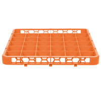 Carlisle RE36C24 OptiClean 36 Compartment Orange Color-Coded Glass Rack Extender