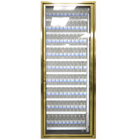 Styleline CL3072-2020 20//20 Plus 30 inch x 72 inch Walk-In Cooler Merchandiser Door with Shelving - Anodized Bright Gold, Right Hinge