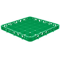 Carlisle RE36C09 OptiClean 36 Compartment Green Color-Coded Glass Rack Extender