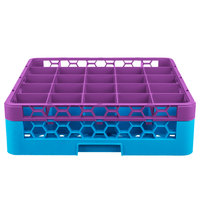 Carlisle RG25-1C414 OptiClean 25 Compartment Lavender Color-Coded Glass Rack with 1 Extender