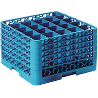 Carlisle RG25-514 OptiClean 25 Compartment Glass Rack with 5 Extenders
