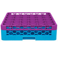 Carlisle RG36-1C414 OptiClean 36 Compartment Lavender Color-Coded Glass Rack with 1 Extender