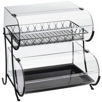 Cal-Mil 1281-2 Two Tier Wide Black Wire Pastry Display - 20 1/4 inch x 19 1/2 inch x 20 1/2 inch