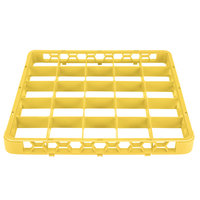 Carlisle RE25C04 OptiClean 25 Compartment Yellow Color-Coded Glass Rack Extender