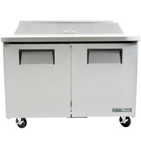 True TSSU-48-12-HC 48 inch 2 Door Refrigerated Sandwich Prep Table