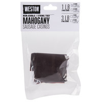 Weston 19-0211-W 1 1/2 inch x 12 inch Mahogany Sausage Casings - Makes 10 lb.