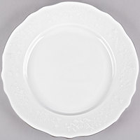 10 Strawberry Street Vine-1SL Vine Silver Line 11 inch Porcelain Dinner Plate - 24/Case