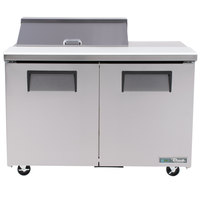 True TSSU-48-8-ADA-HC 48 inch 2 Door ADA Height Refrigerated Sandwich Prep Table