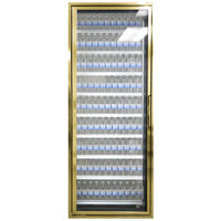 Styleline CL2672-LT Classic Plus 26 inch x 72 inch Walk-In Freezer Merchandiser Door with Shelving - Anodized Bright Gold, Left Hinge