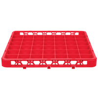 Carlisle RE49C05 OptiClean 49 Compartment Red Color-Coded Glass Rack Extender