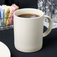 10 Strawberry Street RCR0028 Royal Cream 8 oz. Porcelain C-Handle Mug - 24/Case