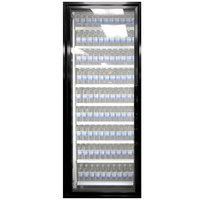 Styleline CL2672-LT Classic Plus 26 inch x 72 inch Walk-In Freezer Merchandiser Door with Shelving - Satin Black, Left Hinge