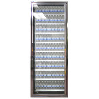 Styleline CL3080-HH 20//20 Plus 30 inch x 80 inch Walk-In Cooler Merchandiser Door with Shelving - Anodized Bright Silver, Right Hinge