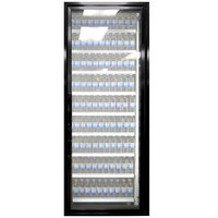 Styleline CL2672-LT Classic Plus 26 inch x 72 inch Walk-In Freezer Merchandiser Door with Shelving - Satin Black, Right Hinge