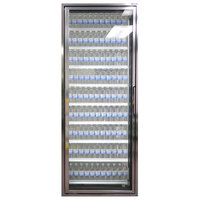 Styleline CL2672-LT Classic Plus 26 inch x 72 inch Walk-In Freezer Merchandiser Door with Shelving - Anodized Bright Silver, Left Hinge