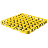 Carlisle RE49C04 OptiClean 49 Compartment Yellow Color-Coded Glass Rack Extender