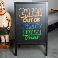 Choice A-Frame Chalkboard Sidewalk Sign - Black Wood - 25 inch x 42 inch