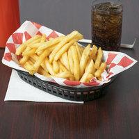 Tablecraft 1073BK 9 1/4 inch x 6 inch x 1 1/2 inch A La Carte Black Plastic Oval Fast Food Basket   - 12/Case