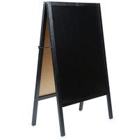 Choice A-Frame Marker Board Sidewalk Sign - Black Wood - 25 inch x 42 inch