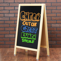 Choice A-Frame Marker Board Sidewalk Sign - Natural Oak Wood - 20 inch x 34 inch